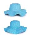 Blauwe dames strandhoed
