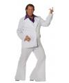 Grote maat wit Travolta kostuum voor heren