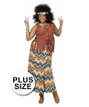 Hippie kostuum voor grote dames