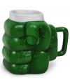 Beker groene vuist superheld