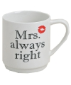 Koffie beker Mrs Always Right