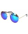 Ronde festival bril met blauwe glazen