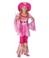 Roze hippie kostuum voor meisjes