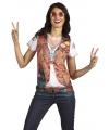 Shirt met hippie opdruk