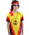 Hippie t-shirt rainbow V voor kinderen