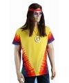 Hippie Sixties t-shirt rainbow