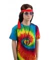 Hippie t-shirt rainbow voor kinderen
