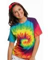 Hippie t-shirt rainbow