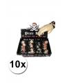 Kinder armbandjes piraten thema 10x
