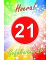 21 jaar verjaardag poster