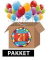 21 jaar feestartikelen pakket