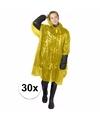 30x gele noodponcho doorschijnend