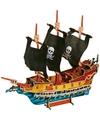 3D puzzel piratenschip van hout