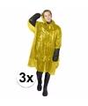 3x gele noodponcho doorschijnend