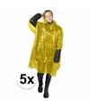 5x gele noodponcho doorschijnend
