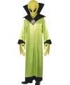 Groen alien pak volwassenen