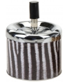 Metalen asbak zebra 12 cm