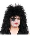 Bekende Rock Star pruik zwart voor heren