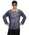 Biker shirt verkleedoutfit