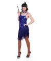 Blauw glitter charleston jurkje