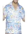 Blauwe hawaii overhemden