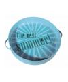 Blauw vintage Summer dienblad 30 cm