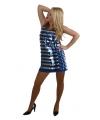 Sexy blauw jurkje met pailletten
