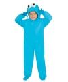 Pluche monster outfit blauw voor kinderen