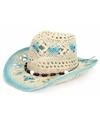 Ibiza strand hoed blue/white
