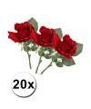 20 rode kunst rozen 30 cm