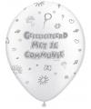 Communieversiering ballonnen 8 stuks