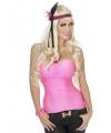 Neon rozeen dames top