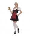 Zwarte Tiroler jurk voor dames