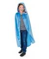 Blauwe halloween cape kids