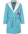 Frozen badjas lichtblauw met wit