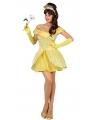 Gele prinsessenjurk voor dames