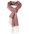 Donkerrode geweven visgraat sjaal