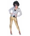 Glimmend gouden legging