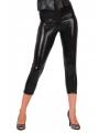Zwarte glimmende legging