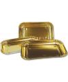 Gouden hapjes schalen 3 stuks