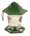 Groene plastic zuil voor buiten vogelvoer 18 cm