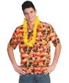 Toppers hawaii overhemd rood met oranje