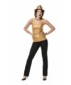 Gouden topje voor dames
