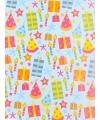 Verjaardagscadeau inpakpapier feesthoedjes 70 x 200 cm