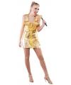 Supersterren outfit goud voor dames