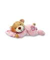 Roze pluche beer met kussen 15 cm