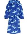 Blauwe haaien badjas voor kinderen