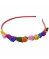Gekleurde hartjes haarband voor kinderen