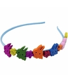 Gekleurde konijntjes haarband voor kinderen