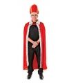 Rode konings cape met hoed